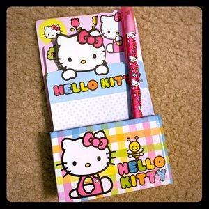 Two Hello kitty stationery sets